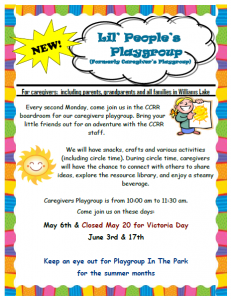 Lil' People's Playgroup @ Child Care Resource and Referral Boardroom | Williams Lake | British Columbia | Canada