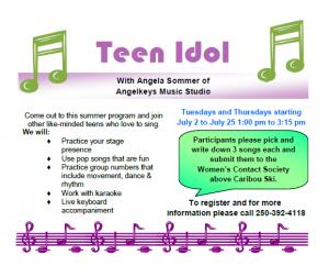 Teen Idol @ Women's Contact Society Boardroom
