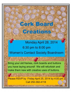 Crafting with Recycling @ Women's Contact Society Boardroom | Williams Lake | British Columbia | Canada