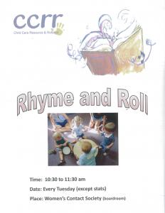 Rhyme & Roll @ CCRR Boardroom | Williams Lake | British Columbia | Canada